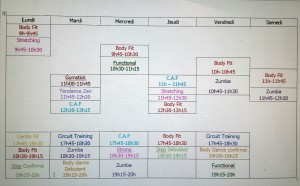planning cours collectifs 2017-2018